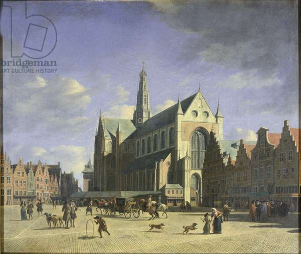 The Groote Markt (Big Market) Haarlem (oil on canvas)