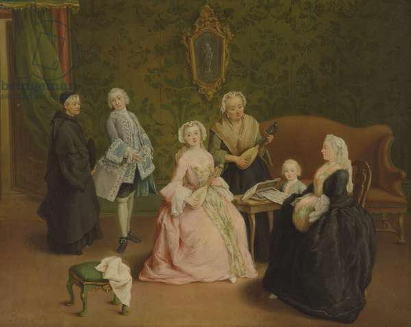 Family Concert (oil on canvas)