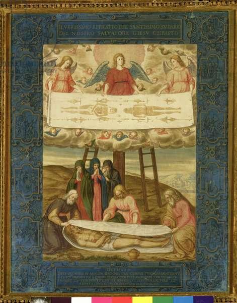 The Holy Shroud (oil on canvas)
