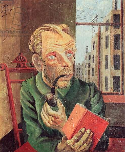 Portrait of Max John, 1921 (oil on canvas)