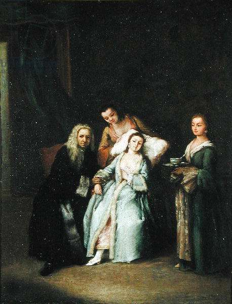 The Sick Woman, c.1740 (oil on canvas)