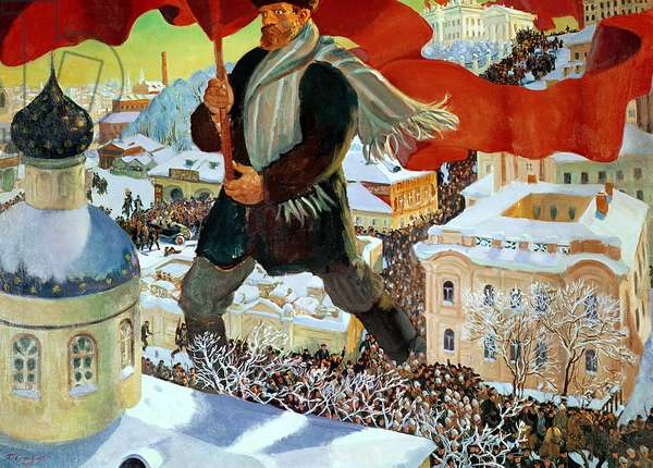 Bolshevik, 1920 (oil on canvas)