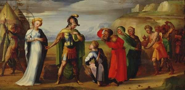 The Continence of Scipio (237-183 BC) (oil on canvas)
