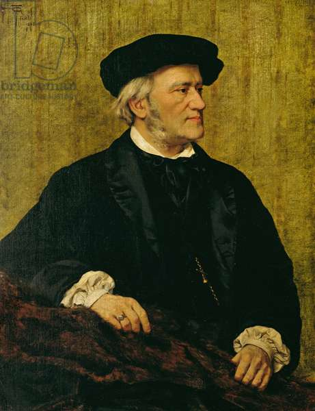 Portrait of Richard Wagner (1813-83) 1883 (oil on canvas)