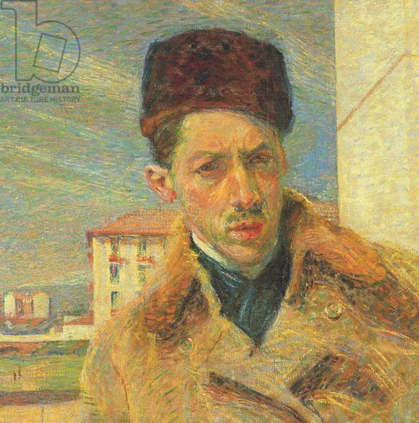Self Portrait, 1908 (oil on canvas) (detail of 349765)