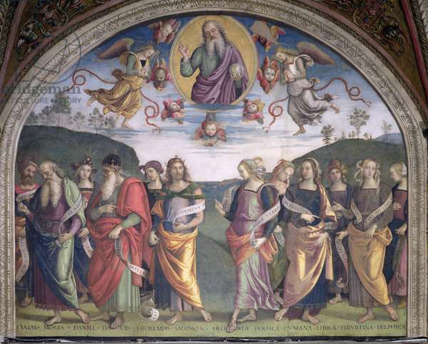 The Eternal Father in Glory with Prophets and Sibyls, from the Sala dell'Udienza, 1496-1500 (fresco)