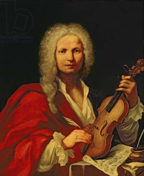 Portrait of Antonio Vivaldi (oil on canvas)