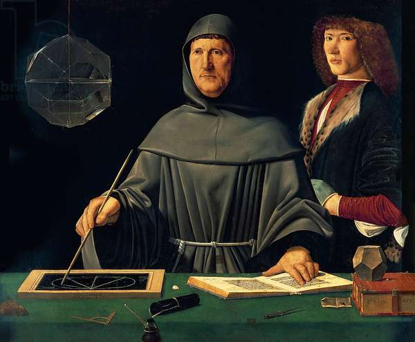 Portrait of Luca Pacioli (c.1445-c.1514) 1495 (oil on panel)