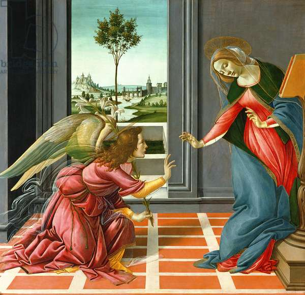 Annunciation (tempera on panel),1489