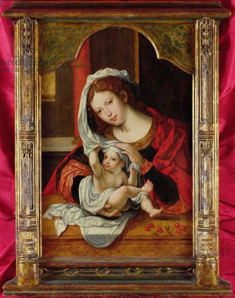Madonna of the Cherries (oil on panel)