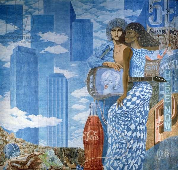America (ceramic mural) (for detail see 70732-33)