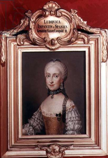 Infanta Maria Ludovica, daughter of Charles III of Spain and wife of Leopold II (1747-92) Holy Roman Emperor and grand-duke of Tuscany