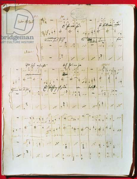 Original score of the Viennese Waltz 'The Blue Danube' by Johann Strauss the younger (1825-99) (manuscript)