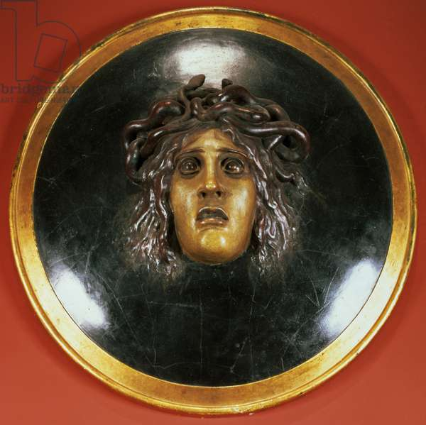 Medusa shield (painted plaster relief)