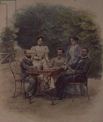 A card game of Tarrock with Johann Strauss in Bad Ischl, 1898