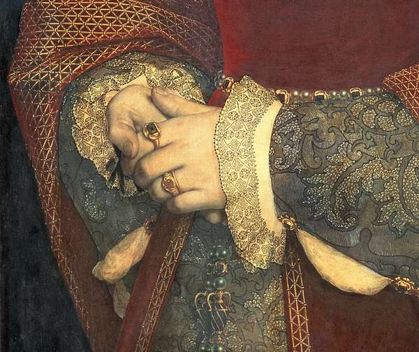 Portrait of Jane Seymour, 1536 (oil on panel) (detail of 32610)