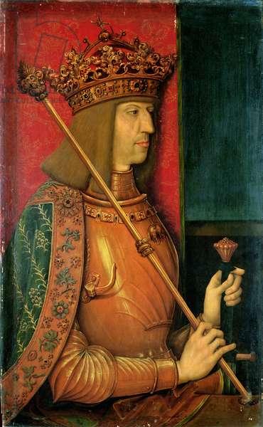 Emperor Maximilian I, c.1500 (panel)