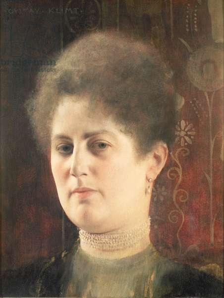 Portrait of a woman (Mrs Heymann), c.1894 (oil on panel)