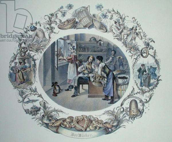 The Baker, engraved by Carl Kunz (1905-71) (litho)
