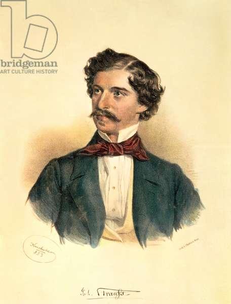 Johann Strauss the Elder (1804-49) (drawing with wash)