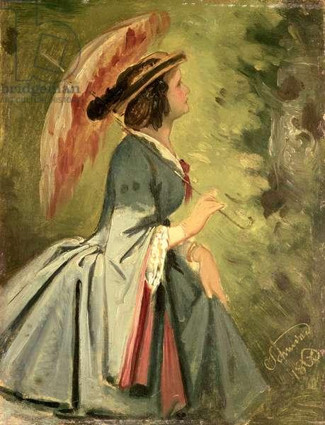 Portrait of Anna, the artist's daughter, 1860