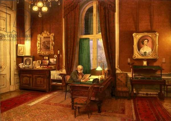 Emperor Franz Joseph I of Austria in his study at Schloss Schonbrunn