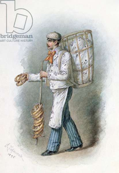 The Baker, 1895 (w/c on paper)