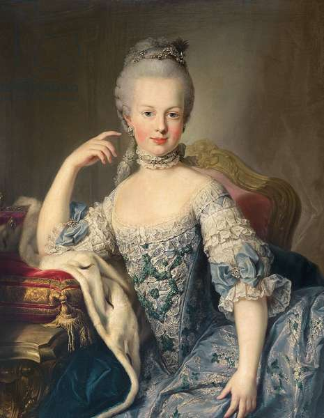 Archduchess Marie Antoinette Habsburg-Lotharingen (1755-93) 1767-68 (oil on canvas)