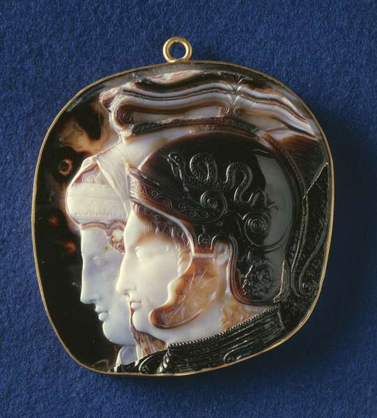 Cameo depicting a Ptolemaic Royal Couple (3rd century BC)