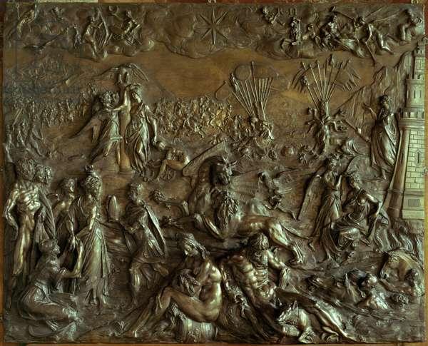 Allegory of the Turkish Siege of 1603, relief plaque by Adriaen de Vries (c.1560-1626) (bronze)