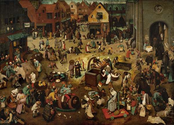 Fight between Carnival and Lent, 1559 (oil on oak panel)