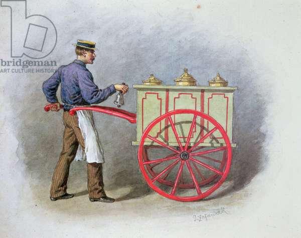 The Ice Cream Seller, 1895 (w/c on paper)