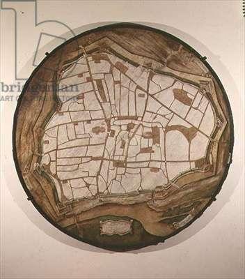 Circular Map of Vienna, 1547-49