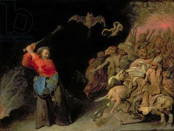 Dulle Griet (Mad Meg) raiding Hell (oil on panel)