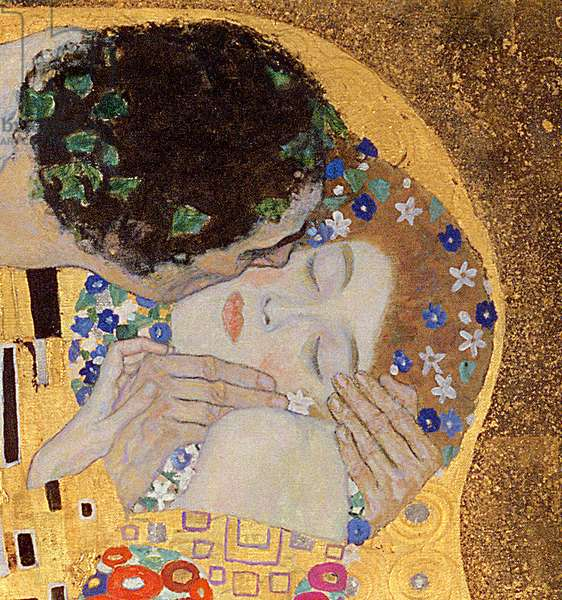 The Kiss, 1907-08 (oil on canvas) (detail of 601)