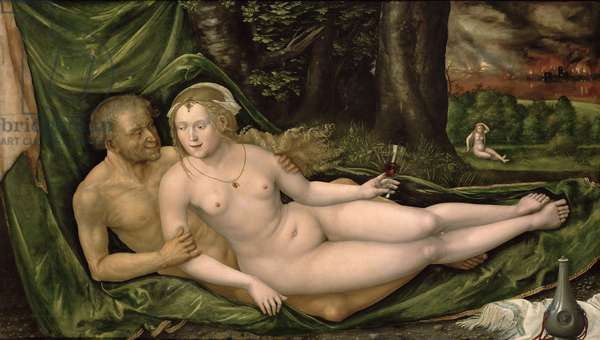 Lot and his daughter, 1537, (oil on canvas)