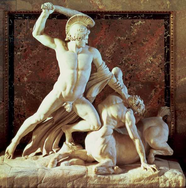 Theseus slaying a centaur (marble)