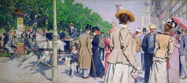 Scene near the Sirk Coffee House, 1900