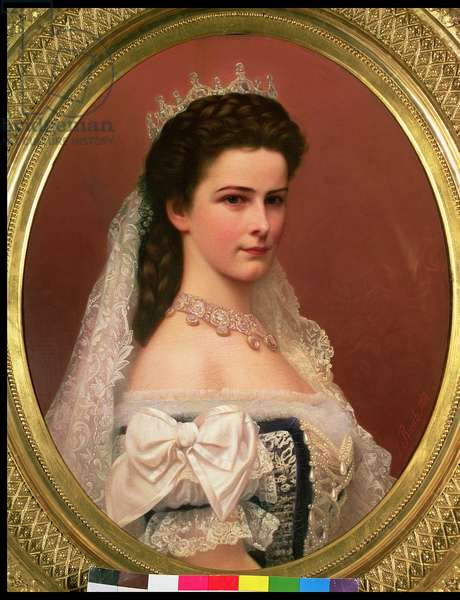 Empress Elizabeth of Bavaria (1837-98) in Hungarian costume, 1867 (oil on canvas)