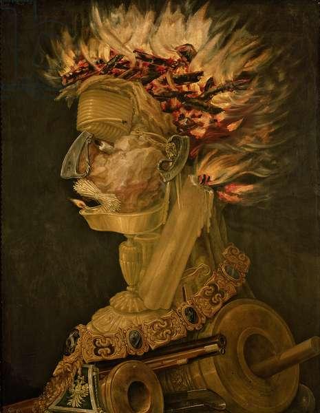 Fire, 1566 (oil on wood)