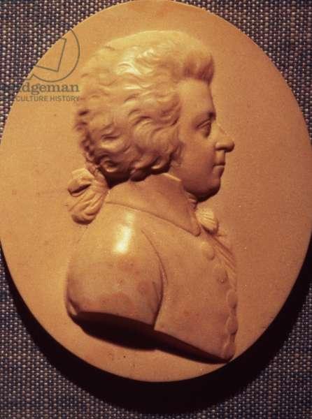 Portrait medallion of Wolfgang Amadeus Mozart (1756-91)