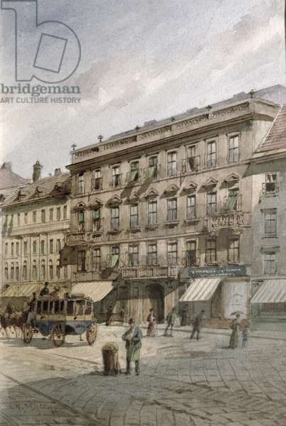 House of Johann Strauss (1804-49) on the Praterstrasse, Vienna (w/c on paper)