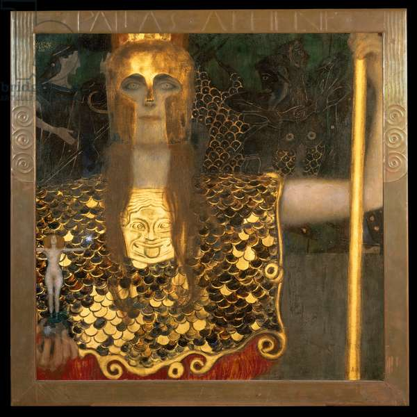 Minerva or Pallas Athena, 1898 (oil on canvas)