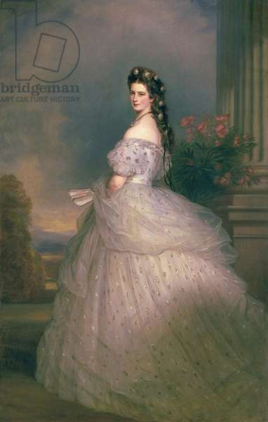 Elizabeth of Bavaria (1837-98), Empress of Austria, wife of Emperor Franz Joseph of Austria (1830-1916) (oil on canvas)