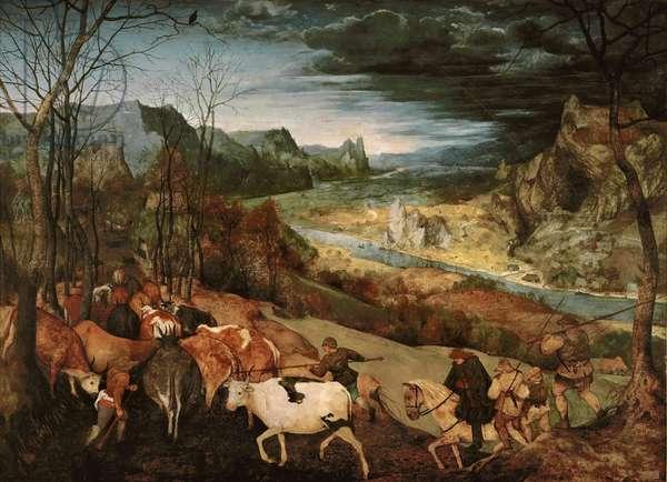 The Return of the Herd (Autumn), 1565 (oil on panel)