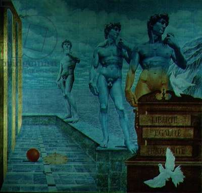 Europe (ceramic mural) (see also 70728-30)