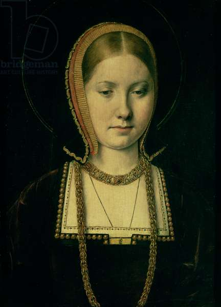 Portrait of a woman, possibly Catherine of Aragon (1485-1536), c.1503/4 (oil on panel)
