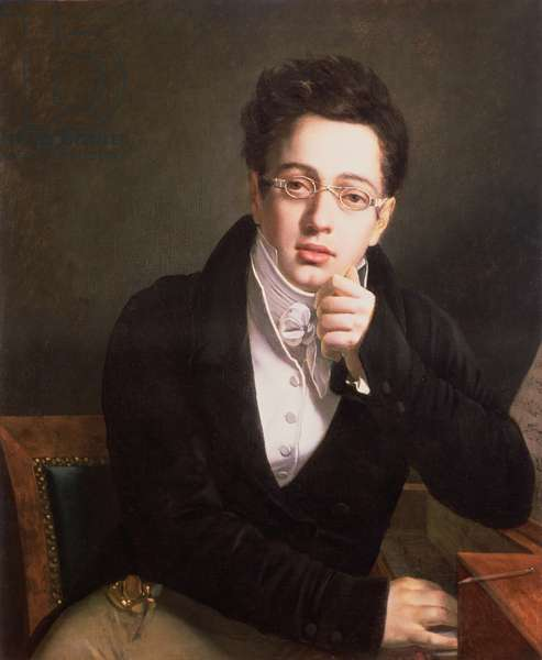 Portrait of Franz Schubert (1797-1828), Austrian composer, aged 17, c.1814