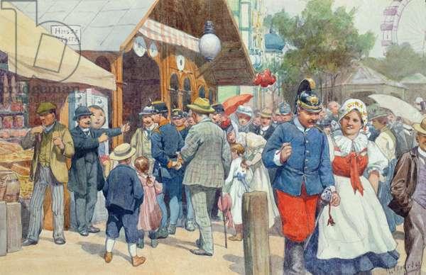 Viennese Scene (w/c on paper)