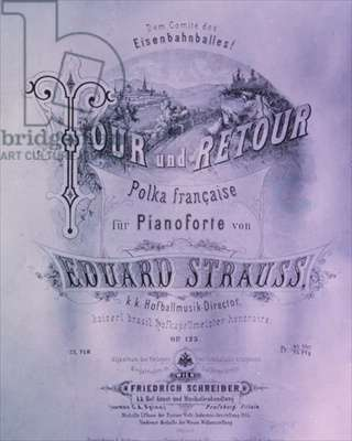 'Tour und Retour', cover for 'French Polka for Piano' by Eduard Strauss (1835-1916)